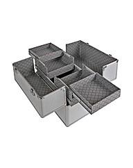 Large Aluminium Vanity Case - Silver