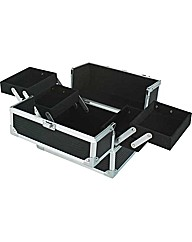 Small Aluminium Vanity Case - Black