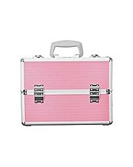 Large Aluminium Vanity Case - Pink