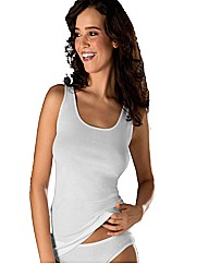 Naturana White Plain Cotton Top