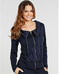 Luxury Cotton Lounge Zip Jacket