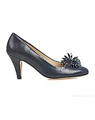 Van Dal Holt - Navy Lizard Print Shoe
