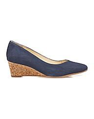 Van Dal Hanover - Navy Suede / Cork Shoe