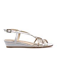 Van Dal Alva - White / Platino Sandal