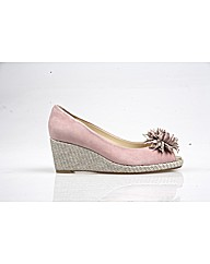 Cocoa - Rose Sde/Silver Weave Shoe