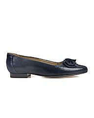 Van Dal Willington -Navy Lizard Prt Shoe