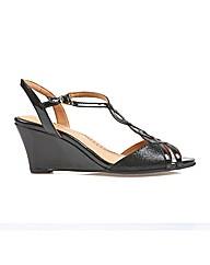 Shalimar - Black Patent/Lizard Sandal