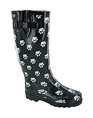 Cotswold Collection Dog Paw Welly