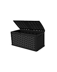 Black Mila Plastic Outdoor Storage Box
