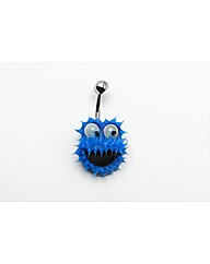 Cookie Monster Rubber Navel Bar