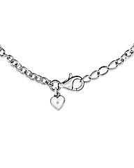 Lily & Lotty Tess silver heart bracelet