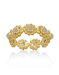 Gold Plated Silver and Moonstone Ring