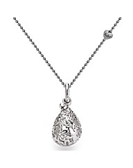 Rhodium Plated Sterling Silver Pendant