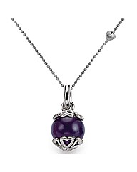 Gold Plated Silver & Amethyst Pendant