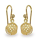 Gold Plated Silver & C Zirconia Earrings