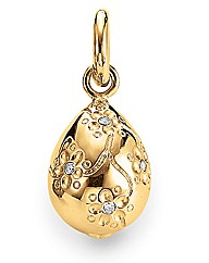 Gold Plated  Silver & C Zirconia Charm