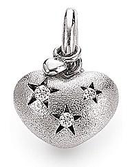 Rhodium Silver & Cubic Zirconia Charm