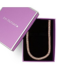 Jon Richard Rose Gold Crystal Necklace