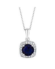 Simply Silver Blue Halo Pendant