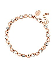 Jon Richard Rose Gold Tennis Bracelet