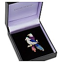 Jon Richard Crystal Lovebird Brooch