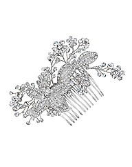 Alan Hannah Crystal Flower Hair Comb