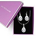 Jon Richard Crystal Teardrop Set