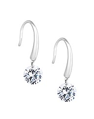 Simply Silver Contemporary Drop Earring