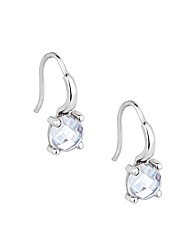 Simply Silver Crystal Drop Earring