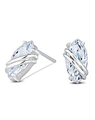 Simply Silver Marquis Twist Earring