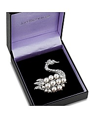 Jon Richard  Swan Brooch