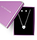 Jon Richard Cubic Zirconia Heart Set