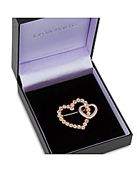 Jon Richard Rose Gold Heart Brooch
