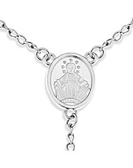 Stainless Steel Rosary Bead Necklet