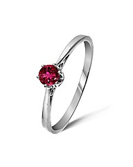 9ct White Gold 0.25Ct Rubelite Ring