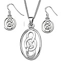 Sterling Silver 0Ct Earrings and Pendant