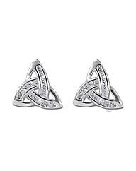 Sterling Silver 0.01Ct CZ Earrings
