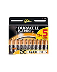 Duracell Plus Power AA Batteries - 20