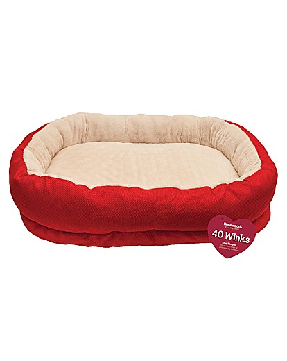 40 Winks Red Orthopedic Bed 34""
