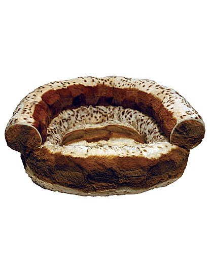 Image of 40 Winks Brown Hyena Print Sofa