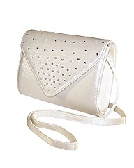 Sparkle Club Ivory Clutch