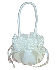 Sparkle Club Ivory Satin Bag