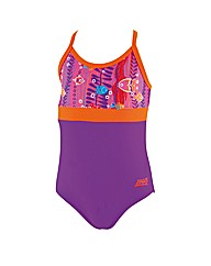 Zoggs Sea Garden Sprintback Swimsuit