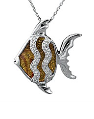 Silver Murano Glass Fish Pendant