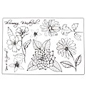 Dawn Bibby Classical Bloom A5 Stamp Set