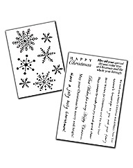 Clear Magic Stamp Set - Snowflake Medley