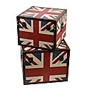 Set of 2 Square Shaped Union Jack Boxes