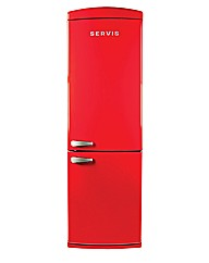 Servis Chilli Red Combi Fridge Freezer
