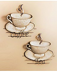 Tea and coffee metal wall art fifty plus for Tea and coffee wall art