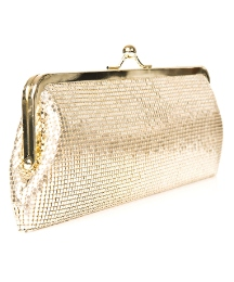 Daniel Chain Mesh Gold Bag